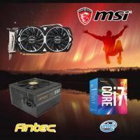 【高興價】Core i7-7700+微星 RX470 ARMOR 8G OC+ANTEC NX 550W銅牌
