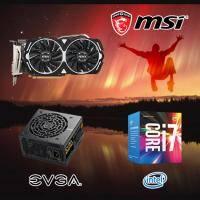 【高興價】Core i7-7700+微星 RX470 ARMOR 8G OC+EVGA 550 GD 80PLUS 金牌