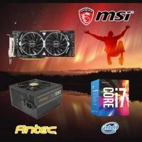 【高興價】Core i7-7700+微星 RX480 ARMOR 8G OC+ANTEC NX 550W 銅牌