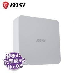 MSI Cubi 2-018XTW 迷你電腦 /白【i3-7100U/4G/128G SSD/WiFi/NOOS/1年保】