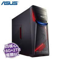 ASUS G11CD 電競電腦【i7-7700/16G/2TB+256G M.2/GTX-1070 8G/DVD/讀卡機/WiFi/500W/含鍵盤滑鼠/W10/3年保/G11CD-K-0041A77..