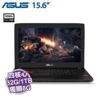 ASUS GL502VS-0111E7700HQ 裝甲鈦灰【i7-7700HQ/32G D4/1TB 7200轉+512G SSD/GTX-1070 8G/15.6吋 FHD 120Hz/W10】遊戲..
