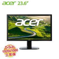 acer KA240HQ 23.6吋 LCD顯示器【1920x1080、D-Sub*1、DVI*1/不閃屏、瀘藍光、三年保】