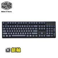 酷碼CM MasterKeys L 電競機械式鍵盤-銀軸中刻 /Cherry軸/PBT鍵帽/無背光