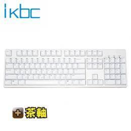 ikbc KD104 機械式鍵盤-白/Cherry茶軸中文/PBT雷雕鍵帽