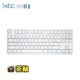 ikbc KD87 機械式鍵盤-白/87鍵/茶軸中文/Cherry軸/PBT雷雕鍵帽