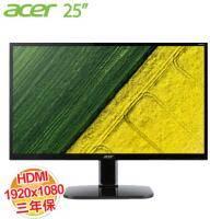acer KA250HQ 25吋 LCD顯示器【1920x1080、D-Sub*1、DVI*1、HDMI*1/不閃屏、瀘藍光、三年保】