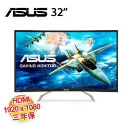 ASUS VA326H 32吋曲面液晶顯示器【1920*1080/VA/D-SUB/HDMI/三年保】