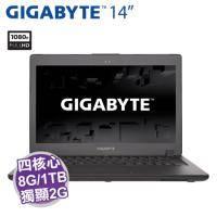 GIGABYTE P34G V7【i7-7700HQ/8G D4/1TB 7200轉+128G M.2/GTX-1050 2G/14吋 FHD/背光鍵盤/W10/P34GV7-2K7770H8GS1H..