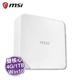 MSI Cubi-239TW 迷你電腦【intel C3215U/4G/1TB+32G SSD/W10/1年保】