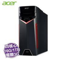 acer GX-785 電競電腦【i7-7700/16G/1TB+256G M.2/GTX-1060 3G/DVD/W10/3年保/DG.B83TA.001】Aspire系列+acer原廠鍵盤及滑鼠