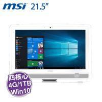 MSI Pro 22ET 4BW-020TW AIO 桌上型液晶電腦 / 白【N3160/4G/1TB/21.5吋 FHD 觸控/DVD/WiFi/W10】