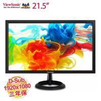 【22型】Viewsonc優派VA2261-2 寬螢幕顯示器1920x1080、對比600:1、亮度200cd、D-Sub/DVI