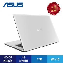 ASUS X751NV-0031BN3450 天使白/N3450/940MX 2G/4G/1TB/17.3吋/DVD/W10/含原廠包包及滑鼠【福利品出清】
