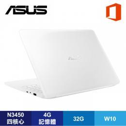 ASUS L402NA-0032AN3450 天使白超值筆電+Office365 個人版一年/N3450/4G/32G/14吋/W10/1年保【福利品出清】
