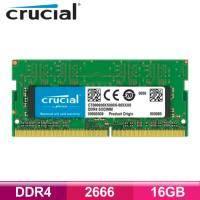 美光 Micron Crucial NB-DDR4 2666-16G RAM/捷元公司貨/CT16G4SFD8266