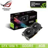華碩 ROG STRIX-GTX 1050TI-4G-GAMING/Std:1290MHz,OC:1392MHz/Aura Sync RGB/註冊五年保(長24.1cm)