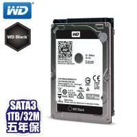 WD 電競黑標 1T(10JPLX) 2.5寸/7200轉/32MB/五年保固