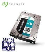 【搭機價】Seagate 1TB(ST1000DM010-3Y/P)/7200轉/SATA3/64M/三年保固(裝機裸)-限組裝