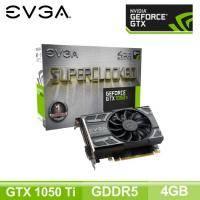 EVGA GTX 1050 Ti 4GB GAMING/單風扇/Std:1290MHz,OC:1392MHz/五年保(長14.5cm)
