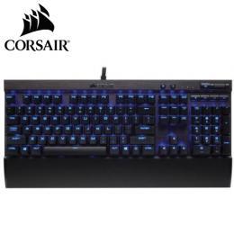 海盜船Corsair K70 LUX 電競機械式鍵盤-紅軸中文/Cherry軸/藍光/大字體鍵帽/可拆式手托