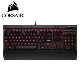 海盜船Corsair K70 LUX 電競機械式鍵盤-紅軸中文 /Cherry軸/紅光背光/可拆手托/USB擴充 (K70LUX(TW)RD/RD燈)