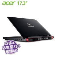 acer GX-792-70TN【i7-7820HK/32G/1TB+512G PCIE/GTX-1080 8G/17.3吋 UHD】Predator 17X 系列+acer原廠電競後背包及滑鼠