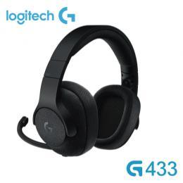 羅技Logitech G433 競艷之聲 7.1聲道 電競耳罩式耳機麥克風-宇宙黑 /折疊式耳麥/可拆式MIC/杜比7.1環繞
