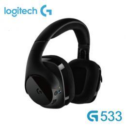 羅技Logitech G533 無線遊戲耳罩式耳機麥克風 /7.1聲道DTS環繞音效