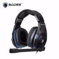 賽德斯SADES KNIGHT PRO 黑暗騎士終極版 USB電競耳麥(SA-907PRO)/首款搭載Bongiovi DPS音效解碼晶片耳麥/單人vs多人模式切換