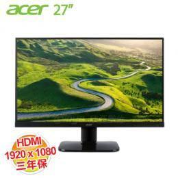 acer KA270H-A 27吋 LCD顯示器【1920x1080、VA、D-Sub*1、DVI*1、HDMI*1/不閃屏、瀘藍光、三年保】