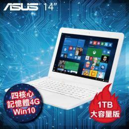 ASUS L402NA-0032AN3450 1T版 白/送office365 個人版一年/N3450/4G/1TB+32G SSD/14吋