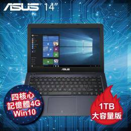 ASUS L402NA-0042BN3450 1T版 藍/送office365 個人版一年/N3450/4G/1TB+32G SSD/14吋