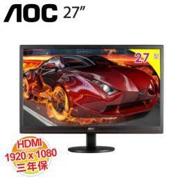 AOC G2770VH 27吋液晶顯示器 1920X1080/低藍光、不閃屏/D-sub/DVI/HDMI/三年保固