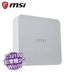 MSI Cubi-229TW 迷你電腦 /白【intel C3215U/2G/500G+32G SSD/WiFi/W10/1年保】