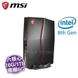 MSI Vortex G25 8RD-010TW 超薄電競桌機【i7-8700/16G/1TB+256G M.2/GTX-1060 6G/W10】