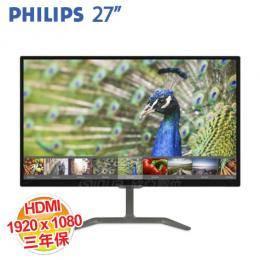 PHILIPS 276E7QDAB 27吋寬IPS液晶顯示器(IPS/D-sub/DVI-D/MHL-HDMI/喇叭/三年保固)
