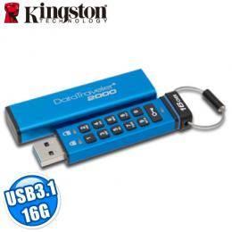 金士頓Kingston DT2000 16GB 隨身碟 XTS-AES 256位元硬體加密 數字鍵加密