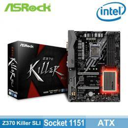 華擎 Z370 Killer SLI(ATX/4*DDR4/2*M.2/INTEL LAN/10相供電/1D1H/U3.1/註冊五年保固)
