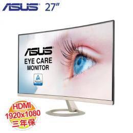 ASUS 華碩 VZ27VQ 27吋 曲面液晶顯示器【VA、HDMI,D-Sub,DisplayPort ,三年保】