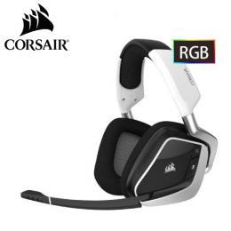 海盜船Corsair VOID PRO RGB Dolby 7.1 無線電競耳麥-白色
