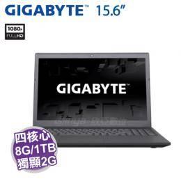 GIGABYTE P15F R7【i7-7700HQ/8G D4/1TB 7200轉+240G M.2/GTX-950M 2G/15.6吋 FHD/DVD/W10】
