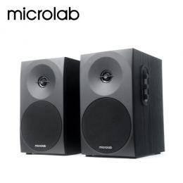 Microlab B70 2.0聲道 二件式喇叭/木質音箱/簡約面板典雅書架型設計 【福利品出清】