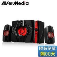 圓剛AVerMedia GS310 40W 戰神弩砲喇叭 三件式 2.1聲道重低音電競喇叭/獨立調教重低音旋鈕設計