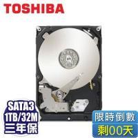 TOSHIBA 1TB(DT01ACA100) /7200轉/SATA3/32MB/三年保固