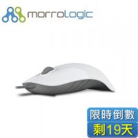 MorroLogic 繽紛蘋果鯊USB精密光學有線滑鼠 WCG-白灰/1000CPI/人體工學造型設計