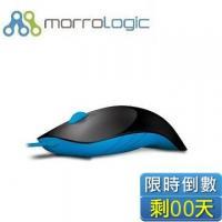MorroLogic 繽紛蘋果鯊USB精密光學有線滑鼠 BMB-黑藍 /1000CPI/人體工學造型設計