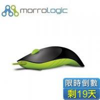 MorroLogic 繽紛蘋果鯊USB精密光學有線滑鼠 BLG-黑綠 /1000CPI/人體工學造型設計