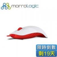 MorroLogic 繽紛蘋果鯊USB精密光學有線滑鼠 WFR-白紅 /1000CPI/人體工學造型設計
