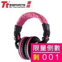 電競耳機:Tt eSports CHAO 潮傳奇 DRACCO 粉色經典款 HT-DRA007OEPK 原價1590 福利價:990【福利品出清】